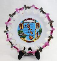 "Vintage 1970's Hawaiian Island Souvenir Plate Scalloped Edges 7"" Diameter"