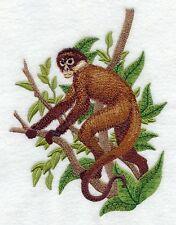Embroidered Sweatshirt - Black-Handed Spider Monkey C8188 Sizes S - XXL