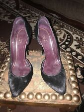 Gucci pony hair fur  high heels woman shoes Size 37 Made In Italy