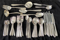 73 Piece Silverplate Reed and Barton Silver Blossoms Flatware Silverware Set VTG