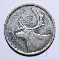 1955 Canada Twenty Five 25 Cents - Elizabeth II 1st portrait - Lot 411