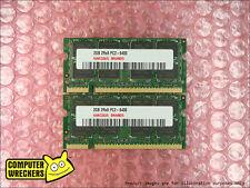 4GB (2x 2GB STICKS) *BULK BRAND* PC2-6400 DDR2 LAPTOP COMPUTER MEMORY RAM SODIMM