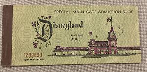 1963 Disneyland complete ticket book - All 10 tickets