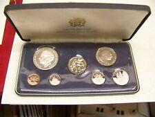 Vintage Jamaica Proof Set - Display Case - Franklin Mint 7 Coin Set - No Coa