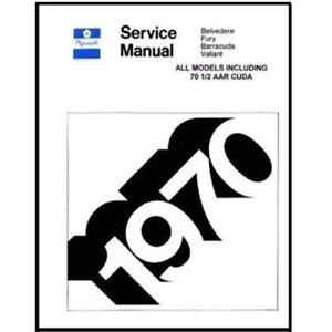 Factory Shop - Service Manual for 1970 Plymouth A-Body B-Body C-Body E-Body