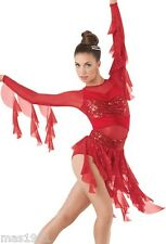 NEW FIGURE ICE SKATING BATON TWIRLING DRESS COSTUME DANCE COMPETITION CHILD MED