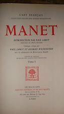 MANET L'ART FRANCAIS WILDENSTEIN JAMOT 1932              2/2