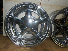 "14"" x 7""  VINTAGE NOS   SPECTRUM   PRO SNITZ CHROME WHEEL  RIMS ,4 LUG"