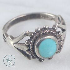 Sterling Silver | Artisan Cinched Band Turquoise 3.8g | Ring (8) Mens LO6723