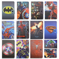 """Kids Superhero Folio Stand Leather Universal Cases For Universal 7~7.9""""  Tablets"""