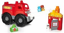 MEGA BLOKS STORYTELLING FIRE TRUCK RESCUE TOY