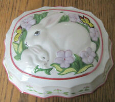 Franklin Mint Le Cordon Bleu Porcelain Jelly Mould Rabbit Pattern