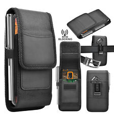Cell Phone Holster Belt Clip Pouch Rugged Card Holder Nylon Wallet Case Cover