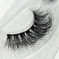 100% Luxury 3D Mink Eyelashes Lasting Lashes Long Layered Wispy Fluffy New -SO