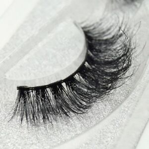 100% Luxury 3D Mink Eyelashes Lasting Lashes Long Layered Wispy Fluffy A+++ AN