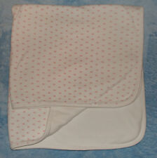 Colimacon Canada White Cotton Baby Blanket Pink Star Print Receiving