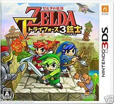 Used 3DS  Legend of Zelda Triforce 3 Musketeers  NINTENDO 3DS JAPANESE  IMPORT