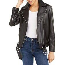 Msrp 120 Bar Iii Womens Faux Leather Moto Jacket Black Size Large