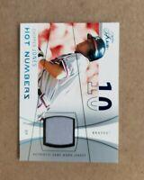 2004 Flair Hot Numbers Chipper Jones Jersey Blue Serial #d /250 Atlanta Braves