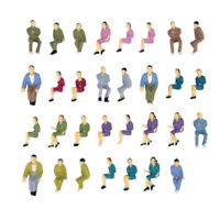 Lot of 50pcs Painted Model Train Seated Figures People Passengers O Scale 1:50