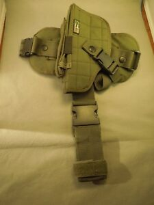 UTG Under the Gun Tactical Drop Leg Holster Fabric Polyester Army Green