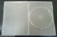 10 Clear Slim line 7mm Single DVD CD Case With Sleeve