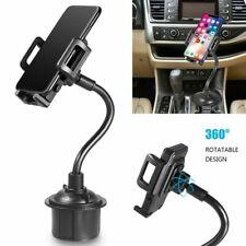 360° Universal Car Mount Adjustable Gooseneck Cup Holder Cradle Cell Phone GPS