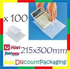 Bubble Wrap Bag 100pcs 215x300mm #2 Clear Bubble Pouch Bags
