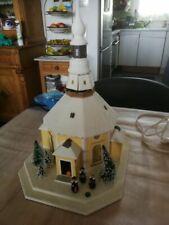 480 / Lichthaus Erzgebirge Seiffener Kirche mit Kurrende LH102 Feinkarton Winter