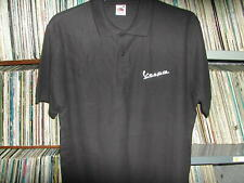 Vespa scooter logo black Polo Shirt in size XL