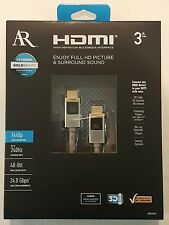 Acoustic Research ARGH3 Extreme Gold High Speed HDMI 3' Cable Ethernet 24.0Gbps