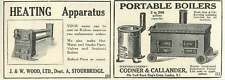 1926 Codner Callander Portable Boilers Jw Wood Stourbridge Old Advert