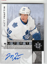 2011-12 ULTIMATE COLLECTION ULTIMATE SIGNATURES MATT FRATTIN ON CARD AUTO