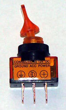SPST Lighted Toggle Sw 20 AMP @ 12 VDC Amber ASW101-A