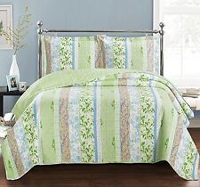 Hayley King Size Over-Sized Coverlet 3 PC Set Luxury Microfiber Printed Quilt