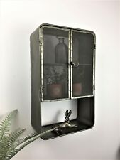 Metal Wall Cupboard Shelf Shabby Chic Industrial Kitchen Bathroom Cabinet Home