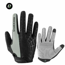 RockBros Cycling Sports Long Full Finger Gloves Touch Screen Gloves Gray Size M