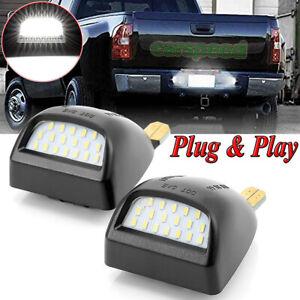 Rear License Plate LED Light White For Chevrolet Silverado GMC Sierra 1500 2500