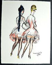 """Superbe Lithographie de Kees Van Dongen """" Mannequins, Regards sur Paris """""""