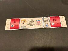 1990 PITTSBURGH PIRATES CINCINNATI REDS NLCS 4 HOME GAME FULL TICKET MINT UNUSED