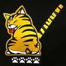 Gelb Auto Aufkleber Gelbe Katze mit Schwanzwedeln Auto Heckscheibe Aufklebe G8D8