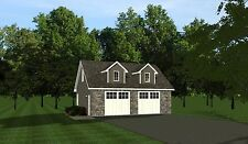2-car garage plans 30x24 w/ Loft plan 720 sf #1032