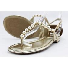 Sandalias y chanclas de mujer Unisa color principal oro de lona