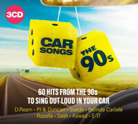 Various Artists : Car Songs of the 90s CD Box Set 3 discs (2019) ***NEW***