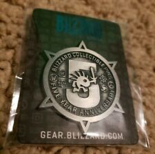 BLIZZCON 2019 COLLECTIBLE PINS FIVE YEAR ANNIVERSARY BLIZZARD EXCLUSIVE LE 1000