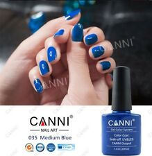 Canni 035 Mediano Azul UV Led Soak Off Gel Colores Nail Art 7.3ml Reino Unido Vendedor