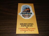 1969 UNION PACIFIC GOLDEN SPIKE TRANSCONTINENTAL RAILROAD EXPO TRAIN BROCHURE