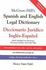 Mcgraw-Hill's Spanish And English Legal Dictionary : Diccionario Juridico Ing...