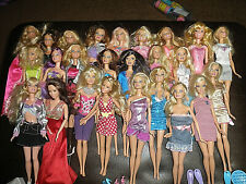 ASSORTED LOT OF 26 BARBIE DOLLS Clothing And Accessories