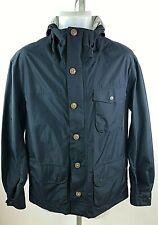 Barbour Men's Navy Blue Waterproof Breathable Rain Jacket Coat w/ Hood Size S